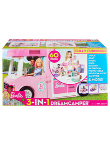 Barbie 3-in-1 Dream Camper Vehicle and Accessories product photo