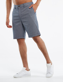 Gasoline Stephan Cross Hatch Chino Short, Navy product photo