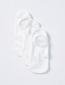 Mazzoni No Show Socks, 3-Pack, White product photo
