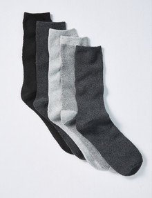 Chisel Terry Work Sock, Stripes, 5-Pack product photo