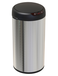 Stevens Round Sensor Bin, Stainless Steel, 40L product photo