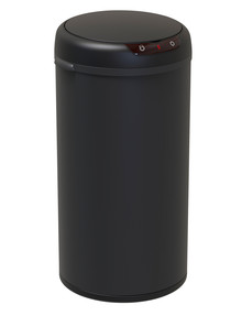 Stevens Round Sensor Bin, Matte Black, 40L product photo