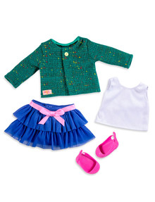 Our Generation Ruffle Skirt & Sweater Outfit product photo