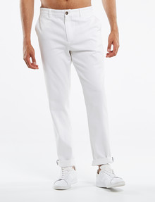 Gasoline Spitalfields Slim-Fit Chino Pant, White product photo