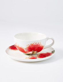Kate Reed Pohutukawa Tea Cup and Saucer Set, 250ml product photo