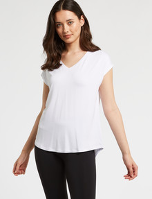 Bodycode V-Neck Boxy Tee, White product photo
