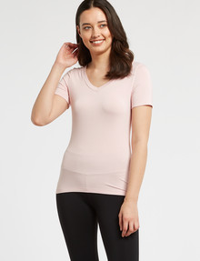 Bodycode V-Neck Short Sleeve Tee, Blossom product photo