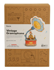 DIY Kits Music Box, Vintage Gramophone product photo