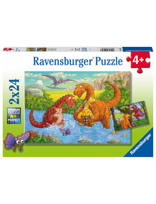 Ravensburger Puzzles Dinosaurs At Play, 2 x 24 Piece Puzzle product photo