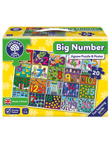 Orchard Toys Big Number Puzzle, 20-Pieces product photo