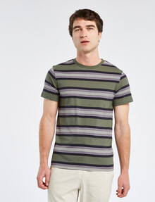 Tarnish Yarn Dyed Stripe Tee, Khaki product photo