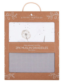 Living Textiles Muslin Swaddle, 2-Pack, Dandelion product photo