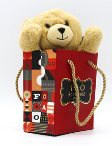 FAO Schwarz Plush Bear in Bag, 7 Inch product photo