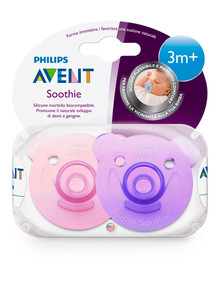 Avent Bear Soothie 3M+, 2-Pack, Assorted product photo