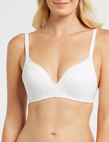 Lyric Cotton Wirefree First Bra, AA-B Cup, White product photo