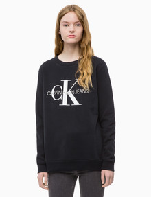 Calvin Klein Monogram Logo Sweatshirt, Black product photo