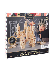 FAO Schwarz Toy Wood Castle Blocks, 75-Piece Set product photo