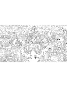 FAO Schwarz Toy Wonderland Colouring Poster, 63 x 36 Inches product photo