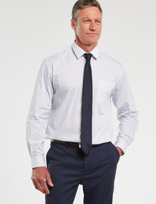 Chisel Formal Long-Sleeve Dots Shirt, White product photo