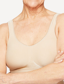 Playtex Comfort Revolution Flex Fit Wirefree Bra, Nude product photo
