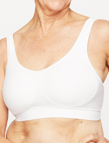 Playtex Comfort Revolution Flex Fit Wirefree Bra, White product photo