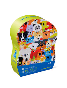 Crocodile Creek Jr. Shaped Box Puzzle, Lots of Dogs, 72-Piece product photo