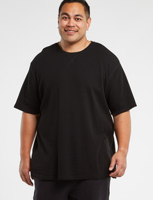 Tarnish King Size Blake Waffle Tee, Black product photo