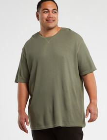 Tarnish King Size Blake Waffle Tee, Khaki product photo