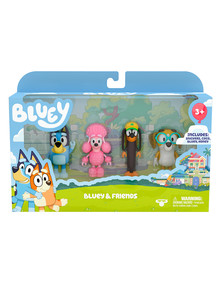 Bluey 4-Figure Pack, Assorted product photo