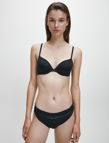 Calvin Klein Perfectly Fit Flex Lightly Lined Demi Bra, Black, A-DD product photo
