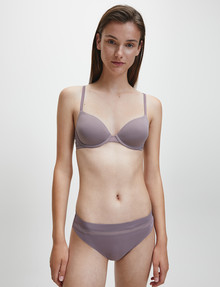 Calvin Klein Perfectly Fit Flex Lightly Lined Demi Bra, Plum Dust, A-DD product photo