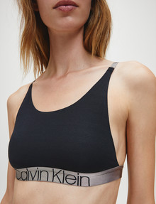 Calvin Klein Icon Cotton Bralette, Black product photo