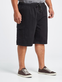 Chisel King Size Elastic Waist Cargo Short, Charcoal product photo