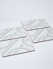 Amy Piper Durham Placemat, Illusion Grey product photo