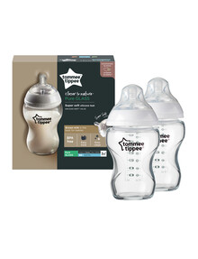 Tommee Tippee 2-Pack Glass Bottle, 250ml product photo