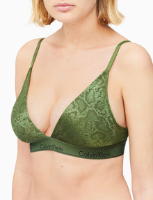 Calvin Klein Modern Cotton Snakeskin Lightly Lined Triangle Bra, Camper product photo