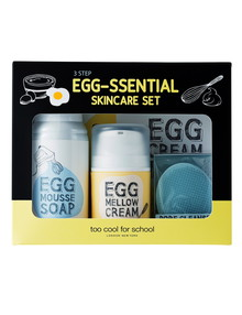 Too Cool For School Egg 3-Step Egg-Ssential Skincare Set product photo