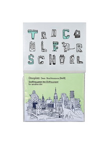 Too Cool For School Dinoplatz Green Tea Blotting Paper Refill, 50 Sheets product photo