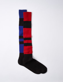 NZ Athletic Striped Rugby Sock, 2-Pack, Red/Black & Blue/Black product photo