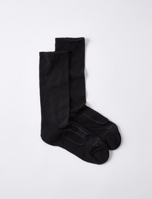 NZ Sock Co. Cotton Comfort Top Sock, 2-pack, Black product photo