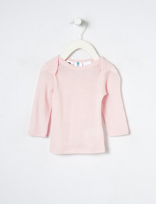 Superfit Baby Merino Long-Sleeve Top, Rose Water product photo
