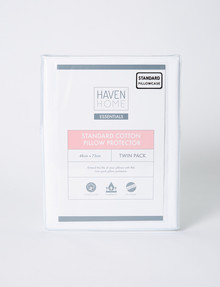 Haven Home Cotton Pillow Protector, Twin Pack product photo
