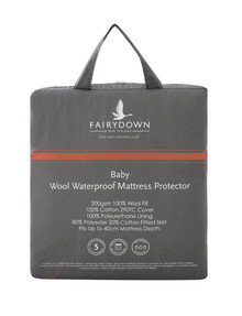 Fairydown Wool Cot Mattress Protector product photo