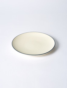 Amy Piper Boston Side Plate, Ivory & Matte Grey product photo