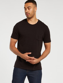 Gasoline Slub Tee, Black product photo