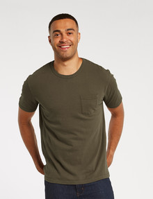Gasoline Kace Cotton Slub Tee, Khaki product photo