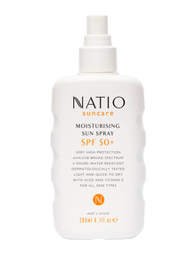 Natio SPF50 Moisturising Sun Spray, 200ml product photo