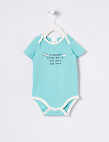 Teeny Weeny Grandpa Loves Me' Short-Sleeve Bodysuit, Green product photo