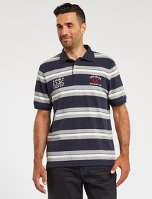 Line 7 Branson Short-Sleeve Polo, Navy product photo