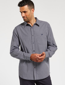 Line 7 Jimmy Long-Sleeve Shirt, Navy product photo